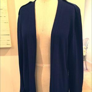 st john open cardigan sweater (90s vintage) M